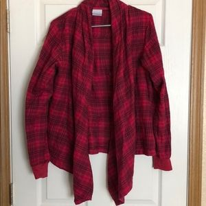Flannel cardigan